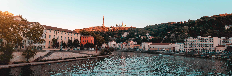 Lyon, bord du Rhône